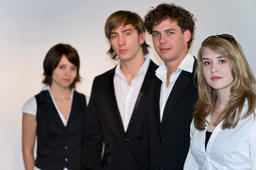Four young people are prepared for their careers Foto