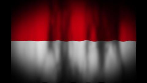インドネシアの国旗 CG動画