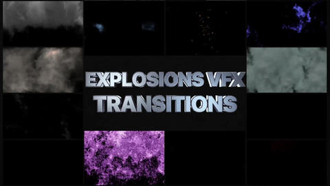 Smoke And Explosions VFX Transitions After Effects Template