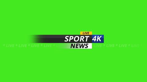 Sport news logo 4K on green screen Animation