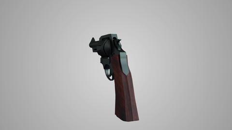 revolver gun rotation Animation