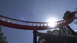 Roller Coaster At Amusement Park Live Action