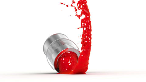 falling paint can Stock Video Footage