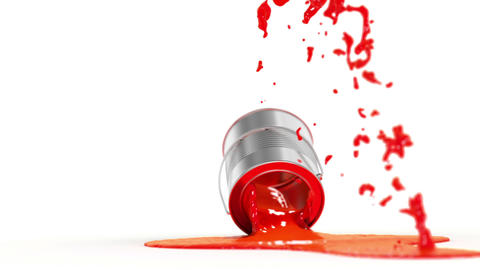 Falling Paint Can stock footage