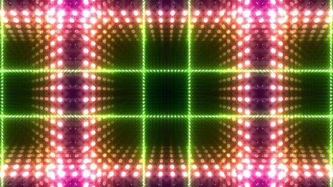 LED Kaleidoscope Wall 2 W Db O 2 HD Stock Video Footage