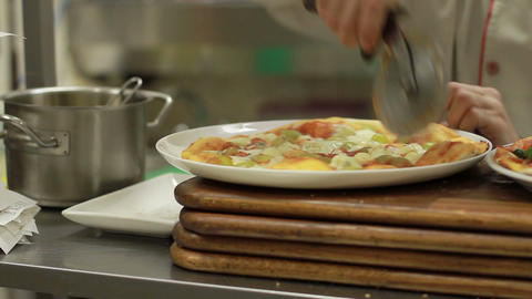 Making Pizza Stock Video Footage