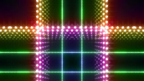 LED Kaleidoscope Wall 2 W Db O 4 HD Stock Video Footage
