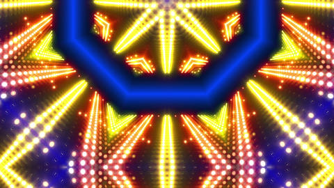 LED Kaleidoscope Wall 2 W Db Y 2 HD Stock Video Footage