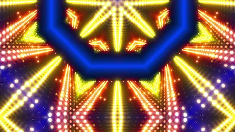 LED Kaleidoscope Wall 2 W Db Y 2 HD Stock Video Footage