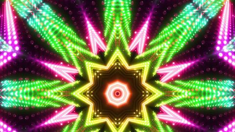 LED Kaleidoscope Wall 2 W Db Y 3 HD Stock Video Footage