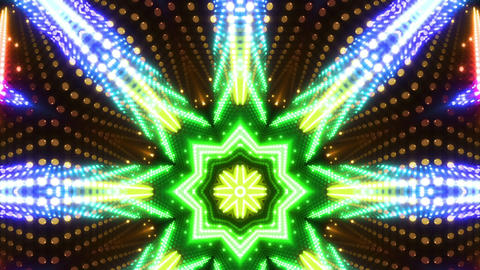 LED Kaleidoscope Wall 2 W Db Y 3 HD Stock Video Footage