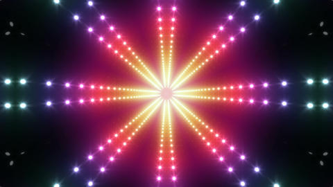 LED Kaleidoscope Wall 2 W Ds Y 4g HD Stock Video Footage