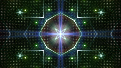 LED Kaleidoscope Wall 2 W Ib Rg HD Stock Video Footage