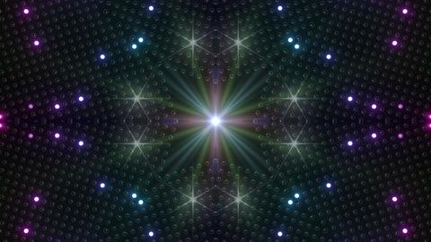 LED Kaleidoscope Wall 2 W Ib Rg HD Stock Video Footage