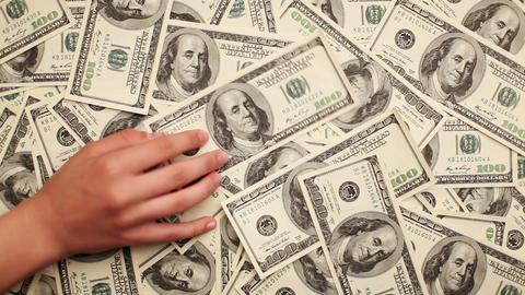 Money, Lots of hundred dollar bills Stock Video Footage