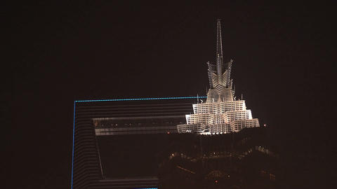 Shanghai skyscrapers top Stock Video Footage