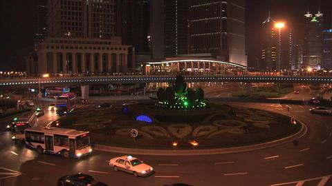 Shanghai traffic at night Stock Video Footage