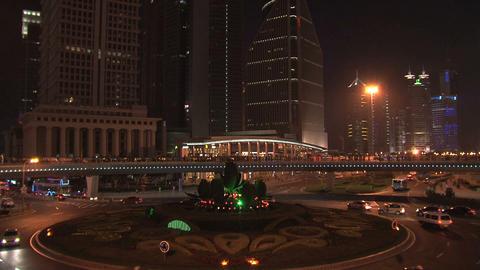 Shanghai traffic pan Stock Video Footage