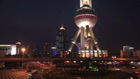 Oriental Pearl Tower Stock Video Footage