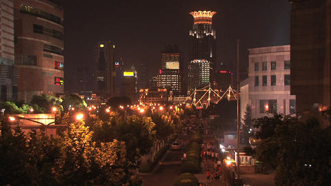 Street in Shanghai Footage