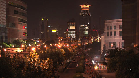 Street in Shanghai Stock Video Footage