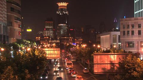 Shanghai traffic tim elapse Stock Video Footage