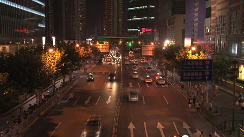 Shanghai Traffic Time Lapse stock footage