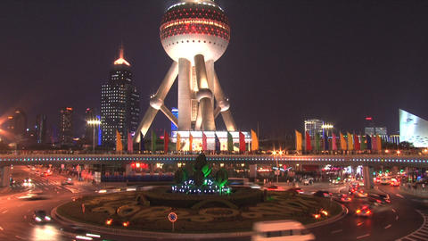 Shanghai traffic timelapse Stock Video Footage