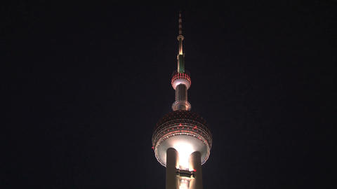 Oriental Pearl Tower tilt Stock Video Footage