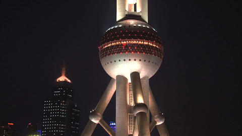 Oriental Pearl Tower tilt Footage