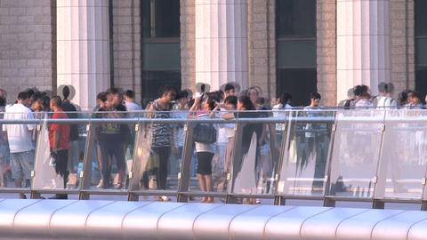 Shanghai Crowd Time Lapse stock footage