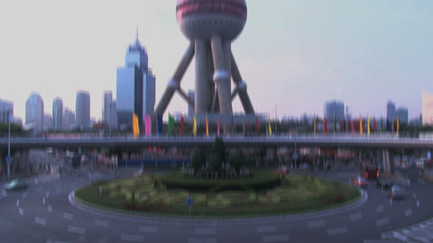 TV tower Shanghai Stock Video Footage