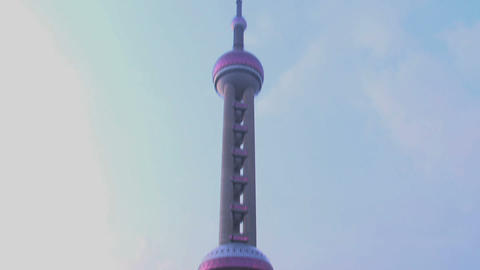TV tower Shanghai Footage