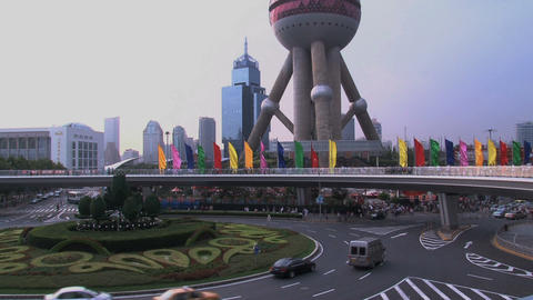 Lujiazui Shanghai traffic Footage