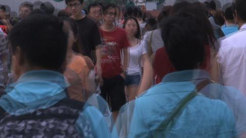 Shanghai crowd timelapse Stock Video Footage