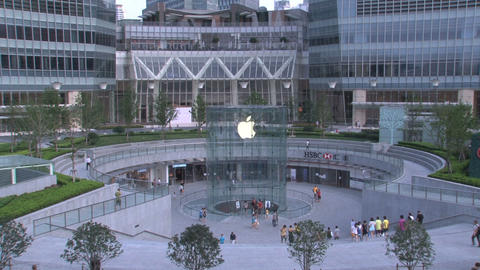 Apple Store Shanghai stock footage
