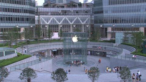 Apple store Shanghai Stock Video Footage