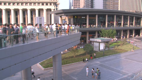 Shanghai crowd time lapse Stock Video Footage