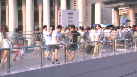 Shanghai people time lapse Stock Video Footage