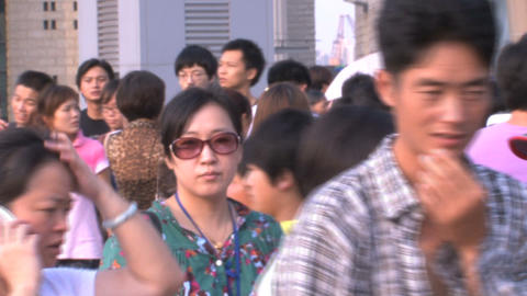 Chinese crowd Stock Video Footage