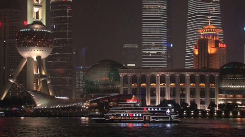 Skyline close up Shanghai Stock Video Footage