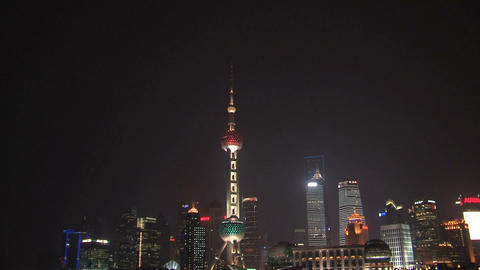 Zoom out Oriental Pearl tower Stock Video Footage