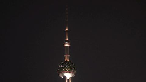 Shanghai Oriental Pearl tower top Stock Video Footage