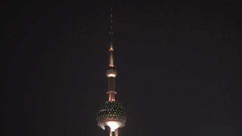 Shanghai Oriental Pearl tower top Footage