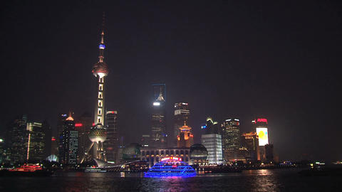 Shanghai skyline Live Action
