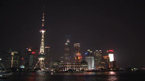 Shanghai skyline Stock Video Footage