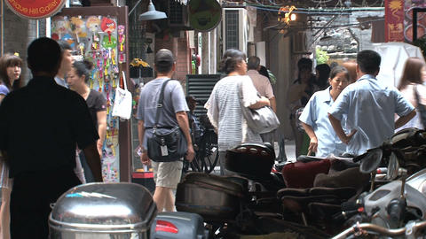 A small street in Shanghai Stock Video Footage
