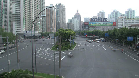 Shanghai traffic time lapse Footage
