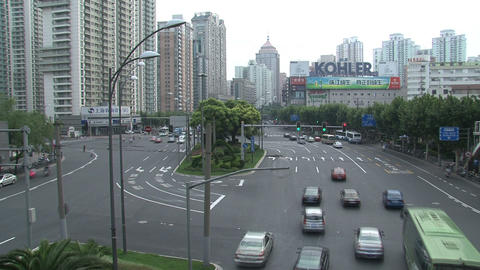 Shanghai traffic time lapse Stock Video Footage