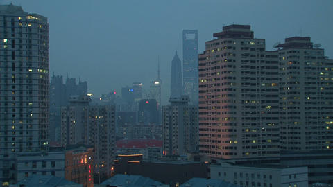 Downtown Shanghai time lapse Stock Video Footage